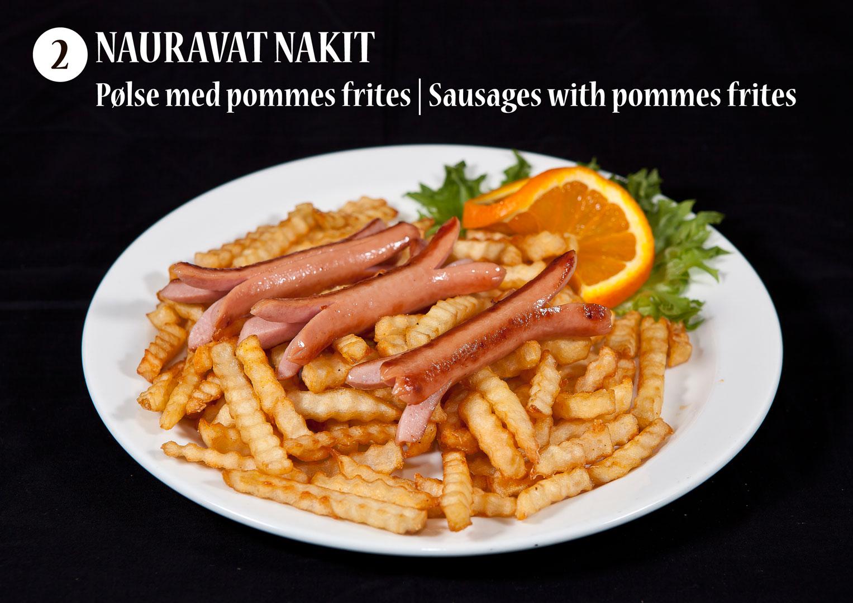 Nauravat nakit | Pølse med pommes frites | Sausages with pommes frites