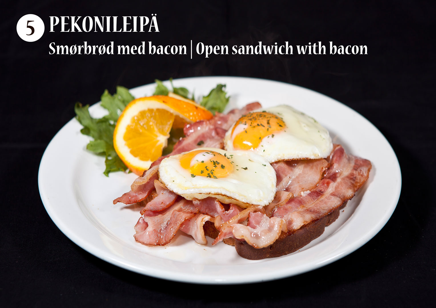 Pekonileipä | Smørbrød med bacon | Open sandwich with bacon
