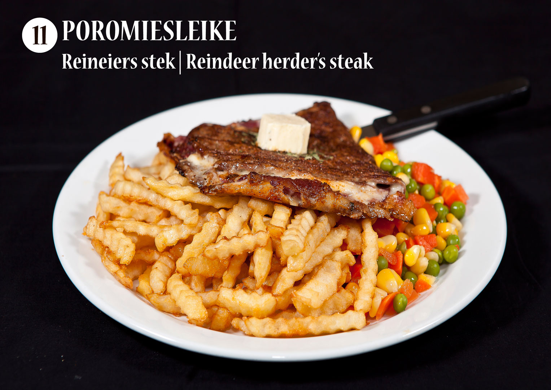 Poromiesleike | Reineiers stek | Reindeer herder's steak