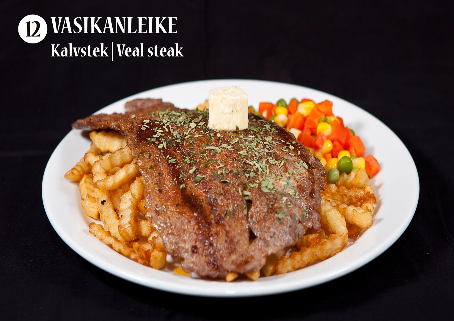 Vasikanleike | Kalvstek | Veal steak
