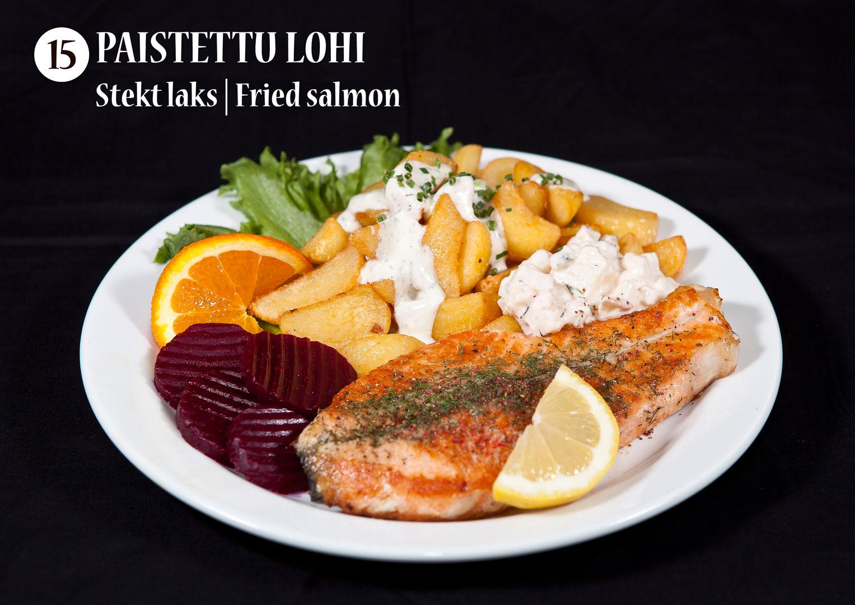 Paistettu lohi | Stekt laks | Fried salmon