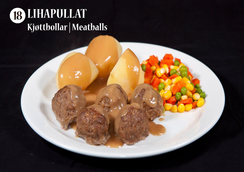 Lihapullat | Kjøttbollar | Meatballs