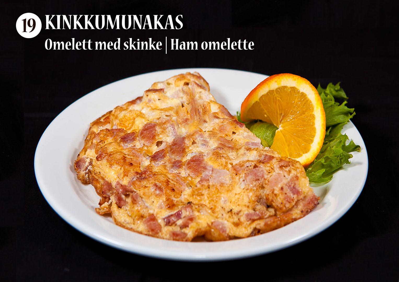 Kinkkumunakas | Omelett med skinke | Ham omelette