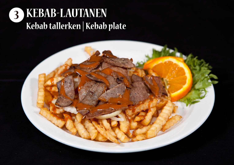 Kebab-lautanen | Kebabtallerken | Kebab plate