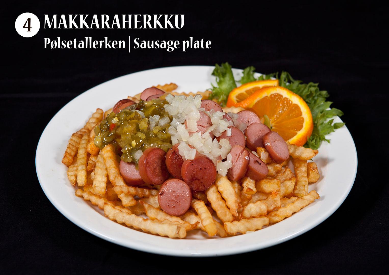 Makkaraherkku | Pølsetallerken | Sausage plate