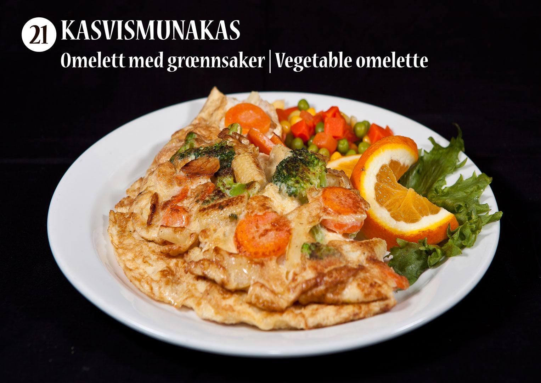 Kasvismunakas | Omelett med grœnnsaker | Vegetable omelette